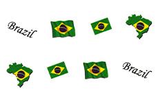 Jolifin Fussball Tattoo - Brazil