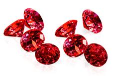 Jolifin Diamonds red 4mm