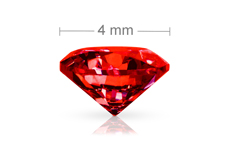 Jolifin Diamonds red 4mm