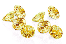 Jolifin Diamonds yellow 4mm
