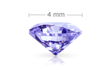 Jolifin Diamonds purple 4mm