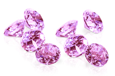 Jolifin Diamonds light pink 4mm