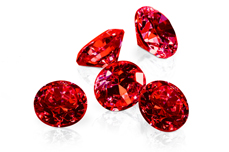 Jolifin Diamonds red 5mm