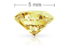 Jolifin Diamonds yellow 5mm