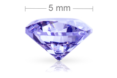 Jolifin Diamonds purple 5mm