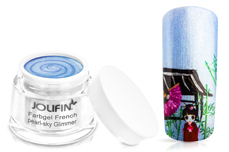 Jolifin Farbgel French pearl-sky Glimmer 5ml