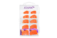 Jolifin 100er Tipbox Diamond Tips clear orange