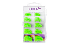 Jolifin 100er Tipbox Diamond Tips clear green