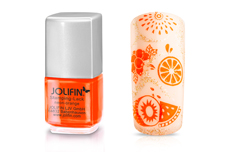 Jolifin Stamping-Lack - neon-orange 12ml