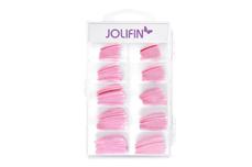 Jolifin 100er Tipbox Glitter-Tips soft pink