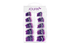Jolifin 100er Tipbox Glitter-Tips cosmic sunset