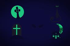 Jolifin Nightshine Halloween Tattoo 5