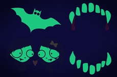Jolifin Nightshine Halloween Tattoo 10