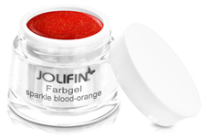Jolifin Farbgel sparkle blood-orange 5ml
