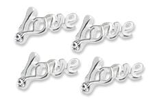 Jolifin Overlay Glitter Love silber
