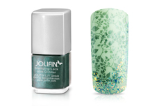 Jolifin Stamping-Lack - olive Glimmer 12ml