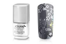 Jolifin Stamping-Lack - metallic white 12ml