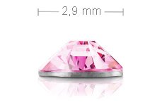 Jolifin Brillant Strasssteine rosa 2,9mm