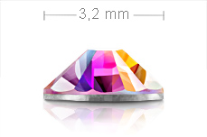 Jolifin Brillant Strasssteine klar irisierend 3,2mm