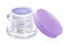 Jolifin Studioline - Aufbau-Gel silber Glimmer 5ml