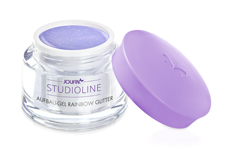 Jolifin Studioline - Aufbau-Gel rainbow Glitter 15ml