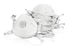 5 Feinstaubmasken mit Ventil FFP 3