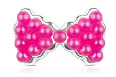 Jolifin Overlay Perlen Schleife pink