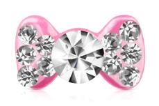 Jolifin Overlay Glitter Schleife pink