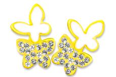 Jolifin Overlay Schmetterlinge gold
