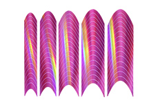 Jolifin Chrome French Sticker pink