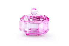 Jolifin Glasbehälter mit Deckel pink