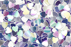 Jolifin Mirror Glitter - Herzen
