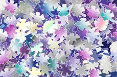 Jolifin Mirror Glitter - Kleeblatt
