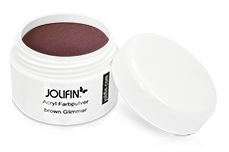 Jolifin Acryl Farbpulver - brown Glimmer 5g