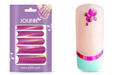 Jolifin Chrome natural French Sticker pink