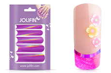 Jolifin Chrome natural French Sticker magenta
