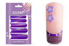 Jolifin Chrome natural French Sticker lila