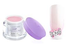 Jolifin Studioline - Aufbau-Gel milchig rosé Glimmer 15ml