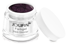 Jolifin Farbgel black Glimmer 5ml