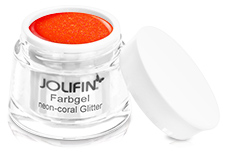 Jolifin Farbgel neon-coral Glitter 5ml
