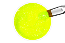 Jolifin Farbgel neon-lemon Glitter 5ml