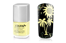 Jolifin Stamping-Lack - pastell-gelb 12ml