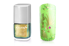 Jolifin Stamping-Lack Flip Flop golden-jungle