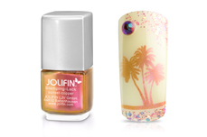 Jolifin Stamping-Lack Flip Flop sunset-copper