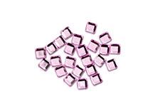 Straßsteine Quadrat rose