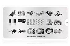 MoYou-London Schablone Rockstar Collection 13