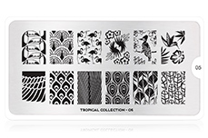 MoYou-London Schablone Tropical Collection 05
