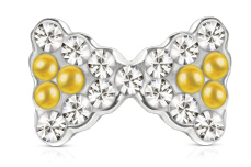 Jolifin Overlay Schleife silber-gold