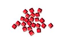 Straßsteine Quadrat rot