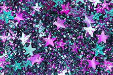 Jolifin Glitter Stars purple-türkis